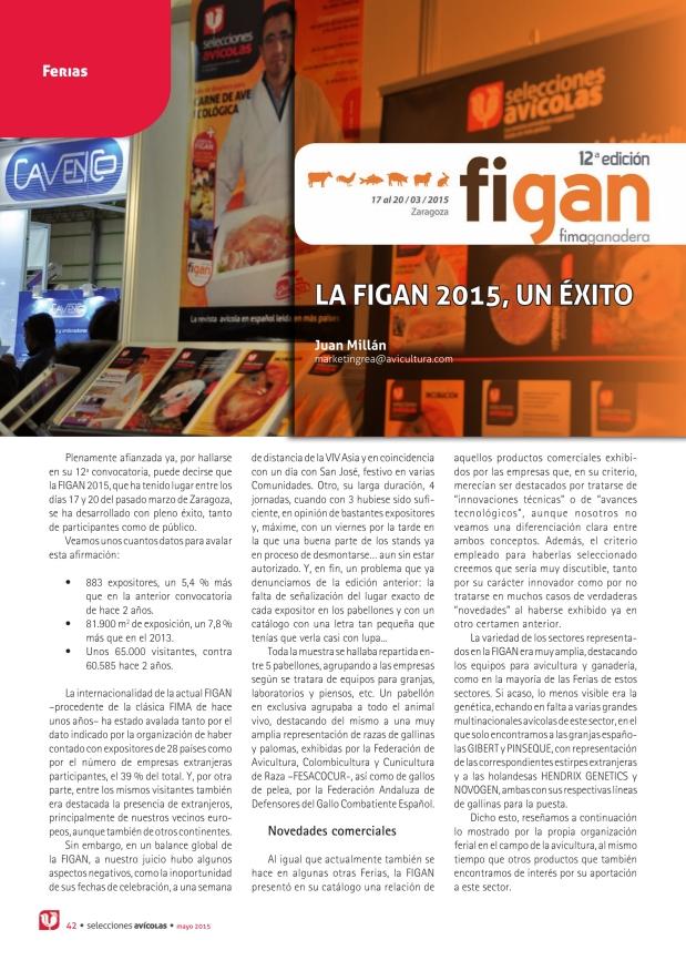 La FIGAN 2015, un éxito