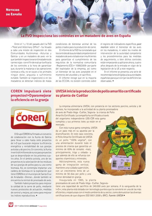 La FVO inspecciona los controles en un matadero de aves en España