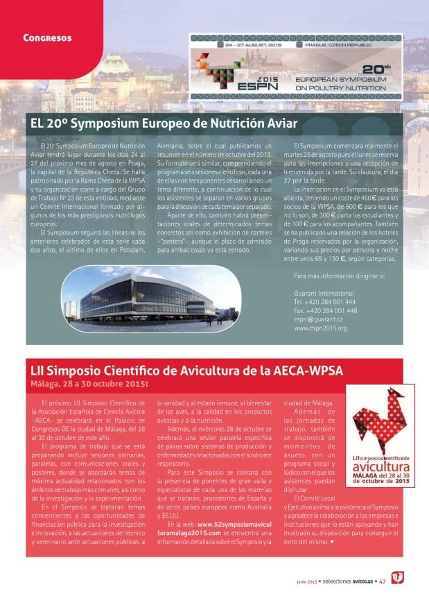 El 20º Symposium Europeo de Nutrición Aviar