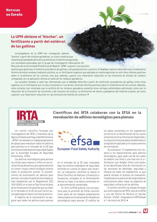 """La UPM obtiene el """"biochar"""", un fertilizante a partir del estiércol de las gallinas"""