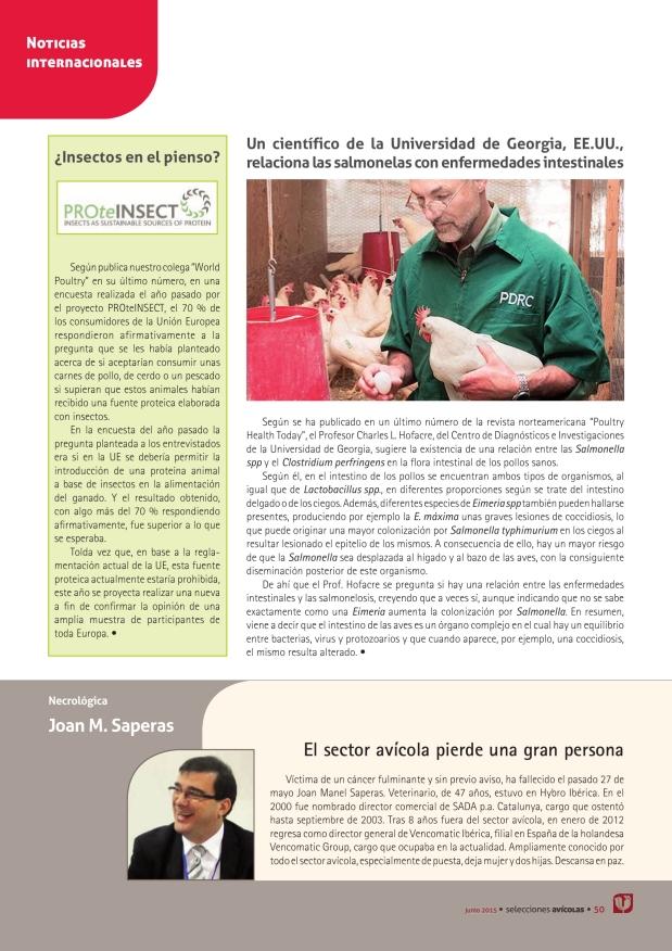 Joan M. Saperas. El sector avícola pierde una gran persona