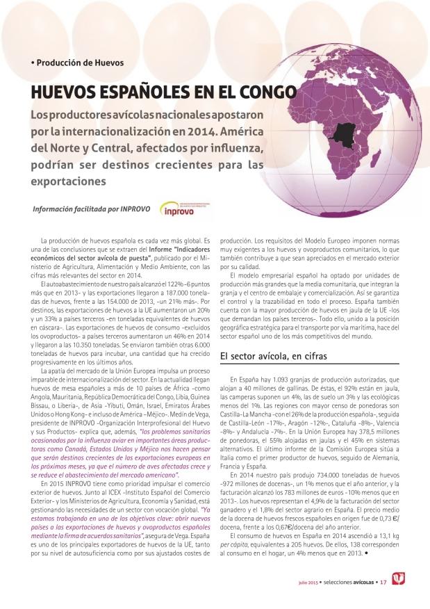 Huevos españoles en el Congo