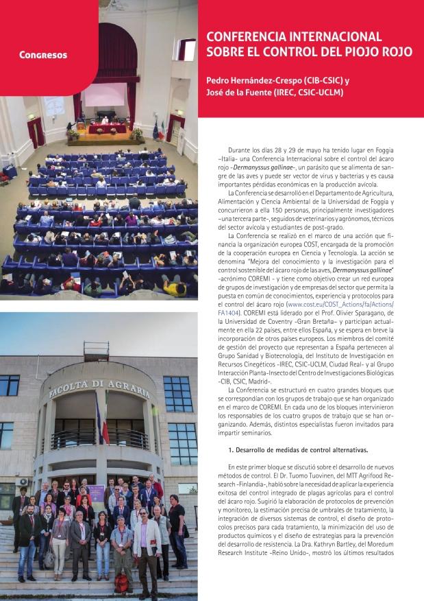 Conferencia internacional sobre el control del piojo rojo