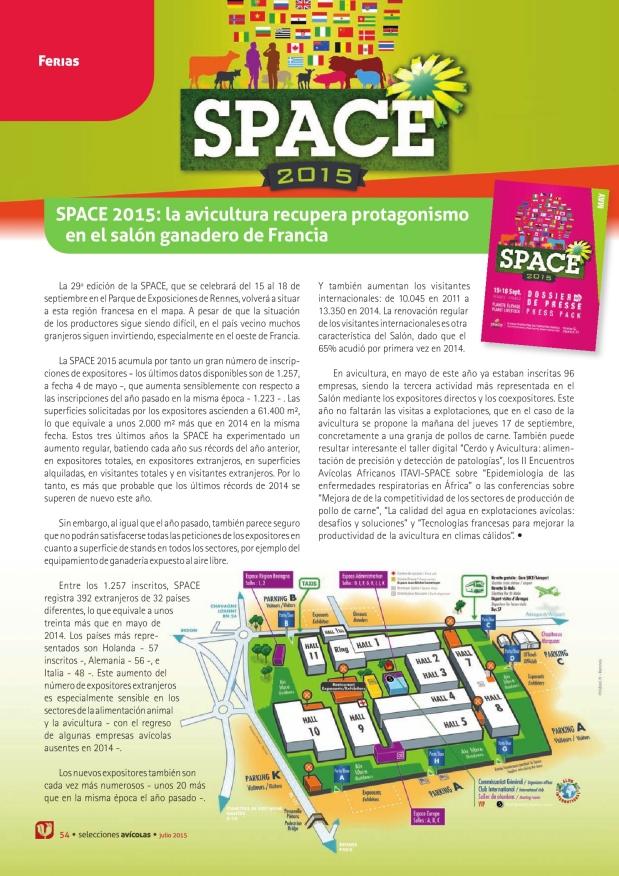 Space 2015: la avicultura recupera protagonismo en el salón ganadero de Francia