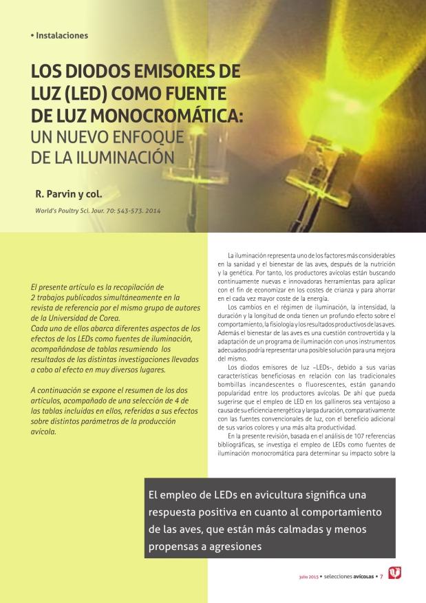 Los diodos emisores de luz (LED) como fuente de luz monocromática: un nuevo enfoque