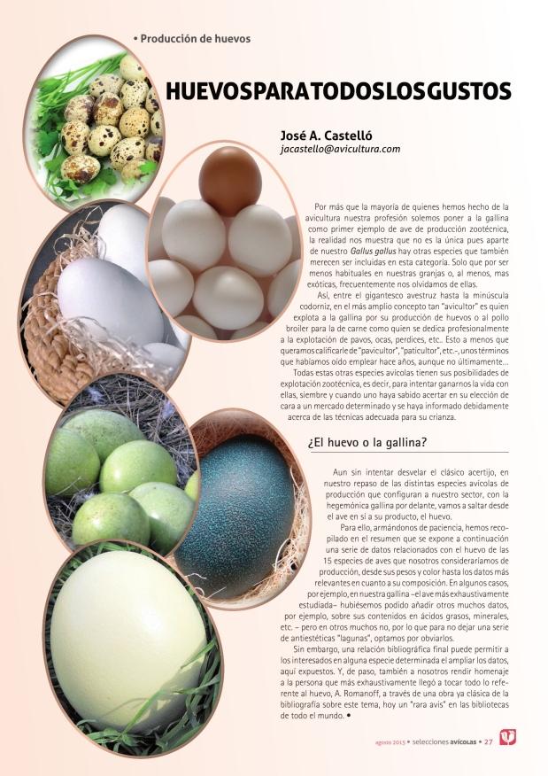 Huevos para todos los gustos