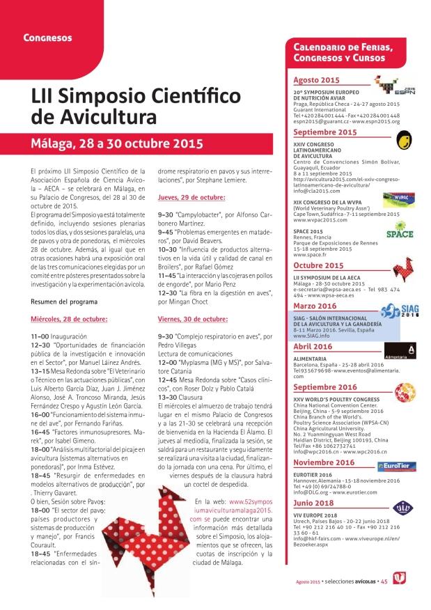 LII Simposio Científico de Avicultura