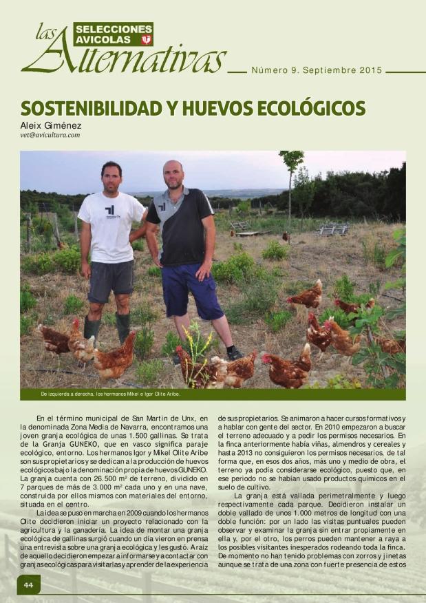 Sostenibilidad y huevos ecológicos