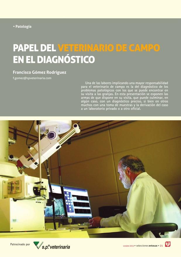 Papel del veterinario de campo en el diagnóstico