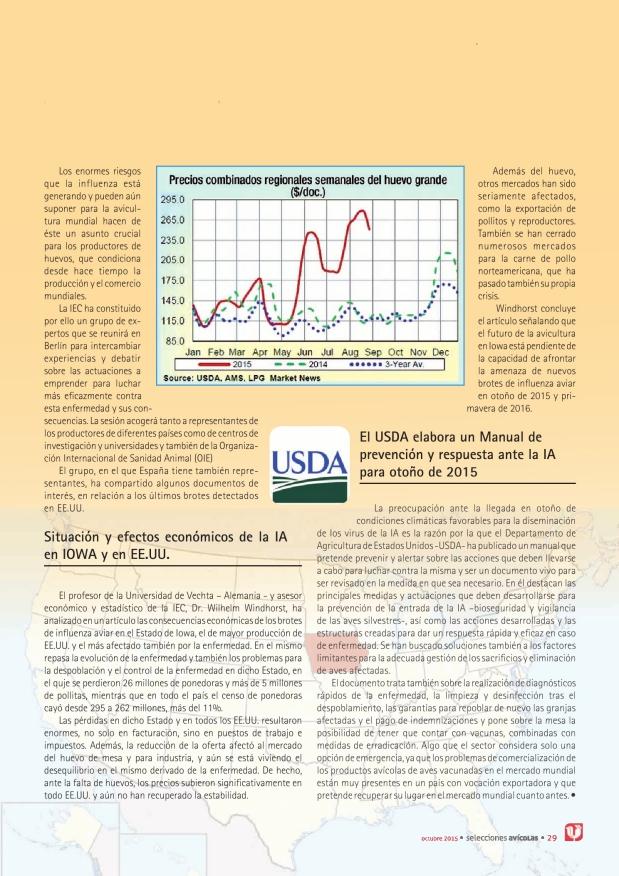 La influenza aviar, en la agenda internacional. La international Egg Commission crea un grupo de trabajo sobre la IA