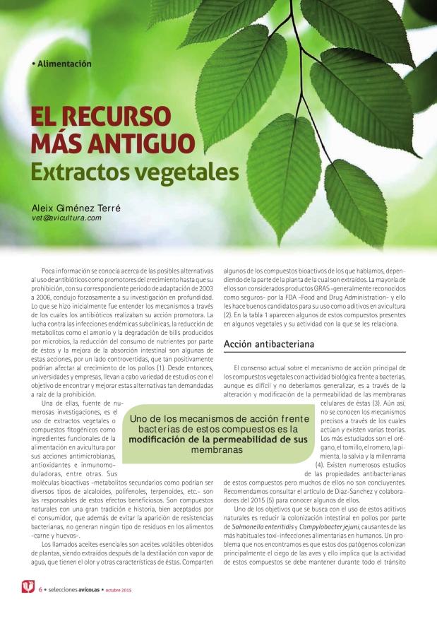 El recurso más antiguo. Extractos vegetales