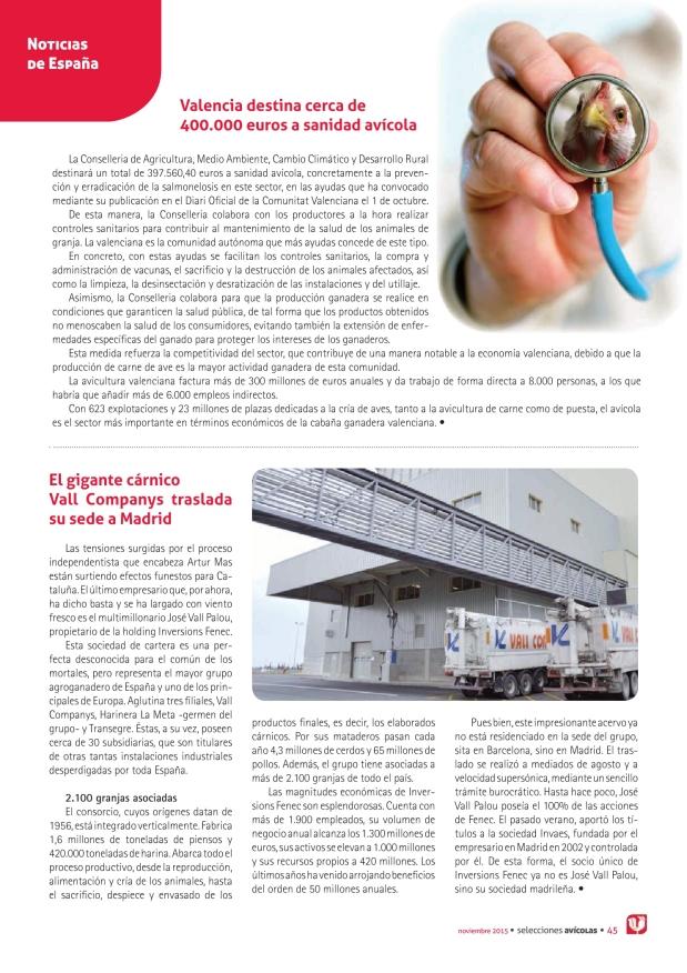 Valencia destina cerca de 400.000 euros a sanidad avícola