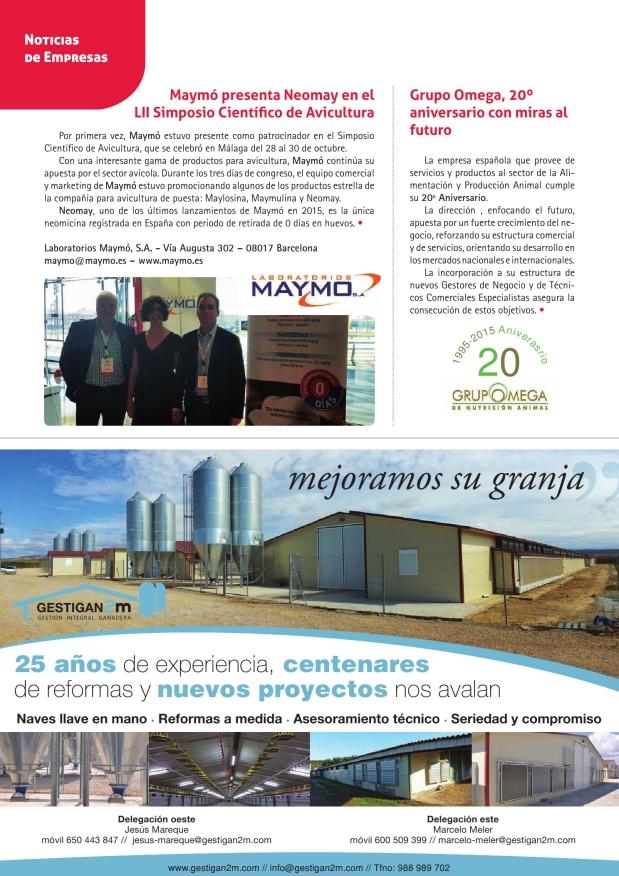 Maymó presenta Neomay en el LII Simposio Científico de Avicultura