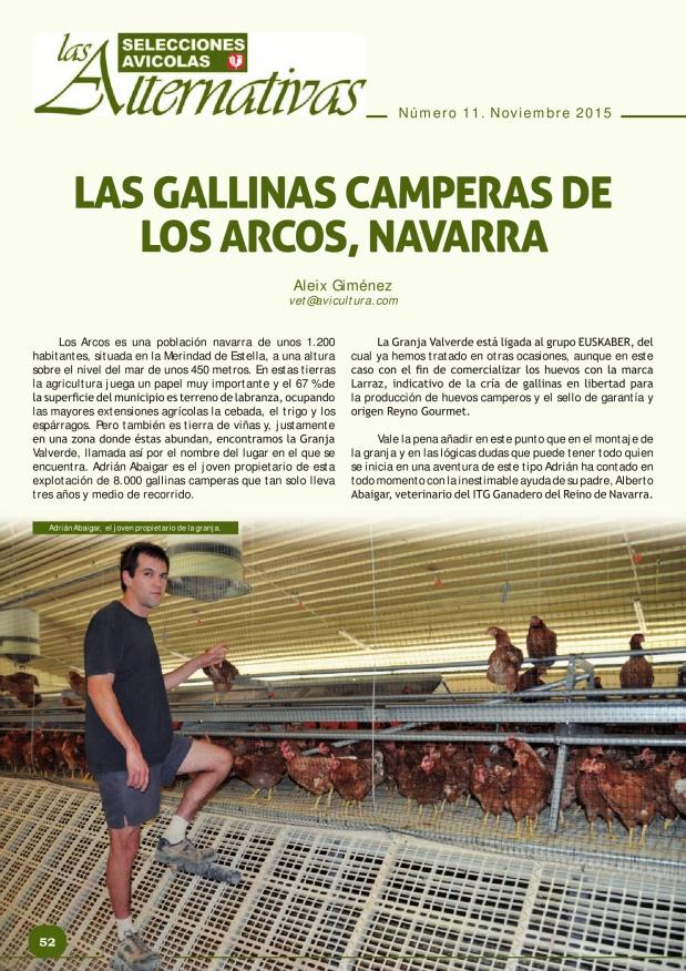 Las gallinas camperas de Los Arcos, Navarra