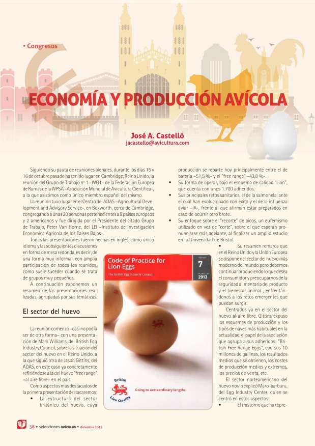Economía y producción avícola