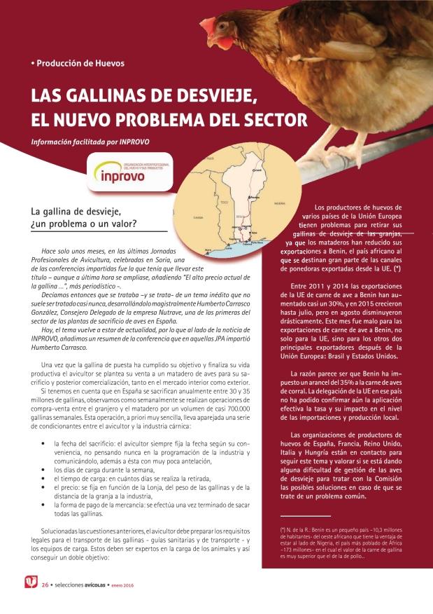 Las gallinas de desvieje, el nuevo problema del sector