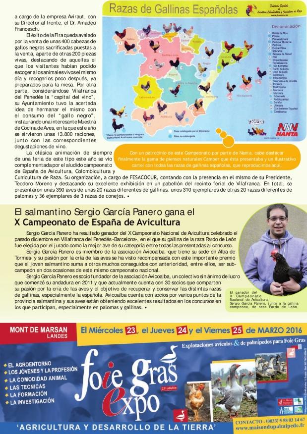 El salmantino Sergio García Panero gana el X Campeonato de España de Avicultura
