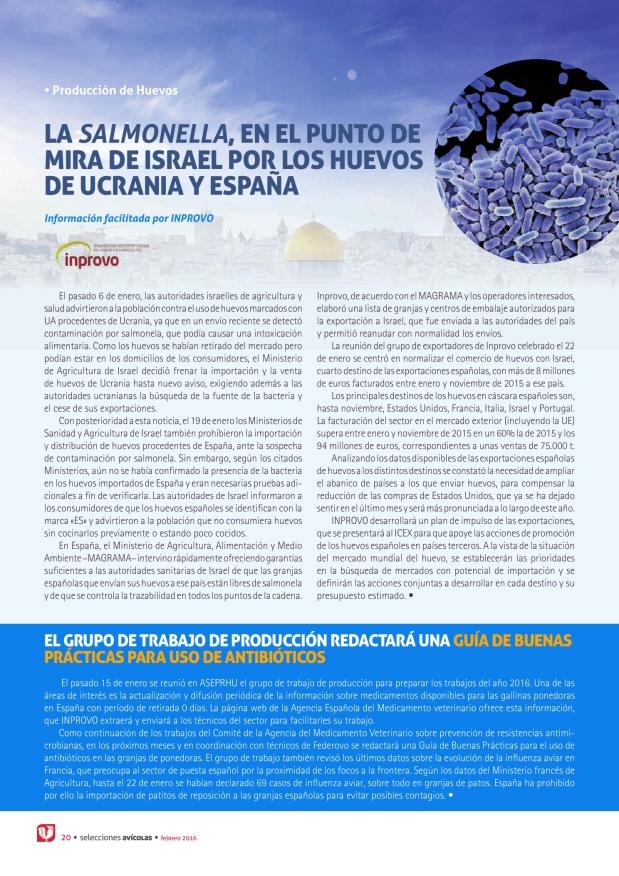 La salmonella, en el punto de mira de Israel por los huevos de Ucrania y España