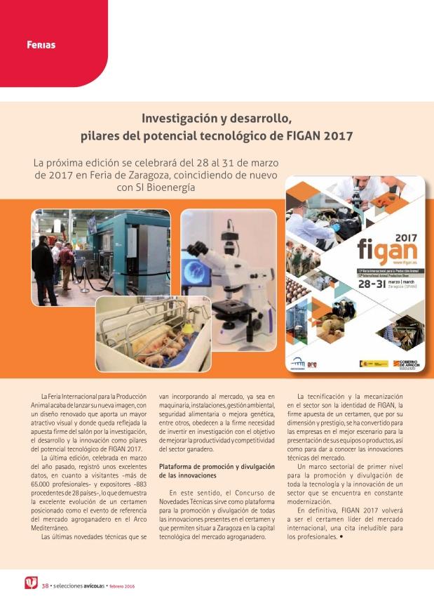 Investigación y desarrollo, pilares del potencial tecnológico de FIGAN 2017