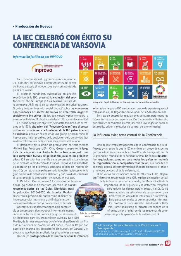 La IEC celebró con éxito su conferencia de Varsovia