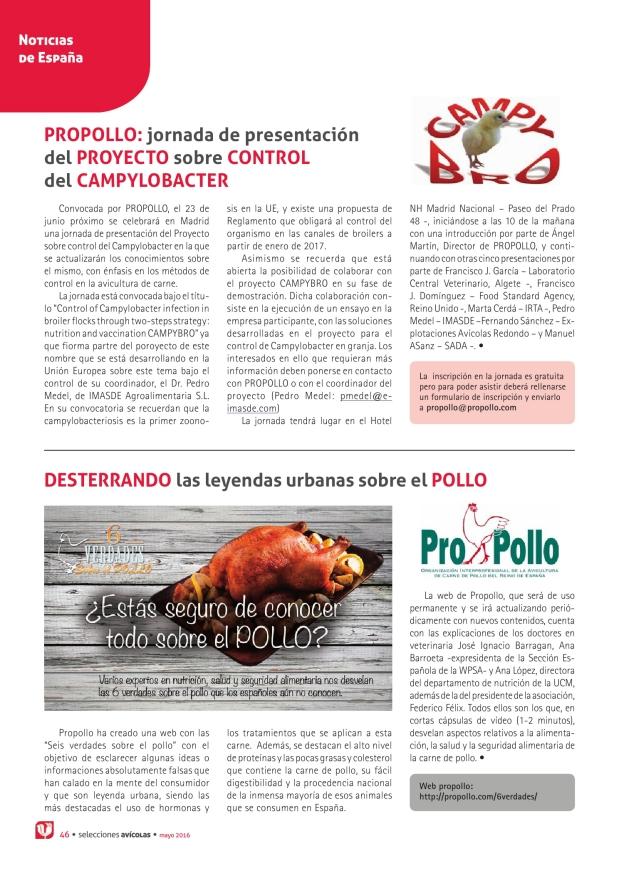 Propollo: jornada de presentación del Proyecto sobre control del Campylobacter