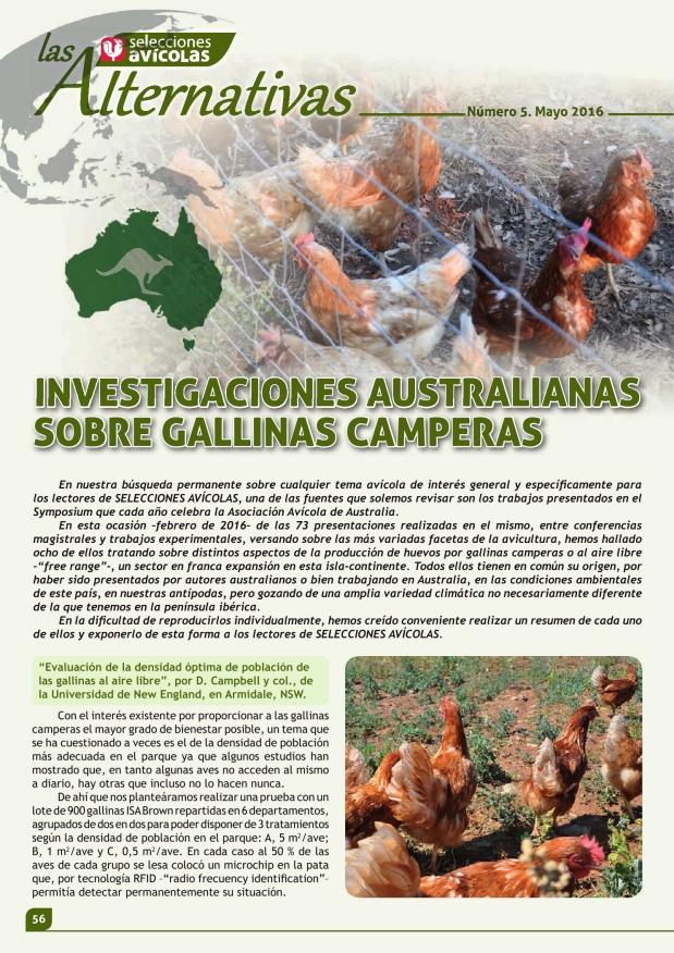 Investigaciones australianas sobre gallinas camperas