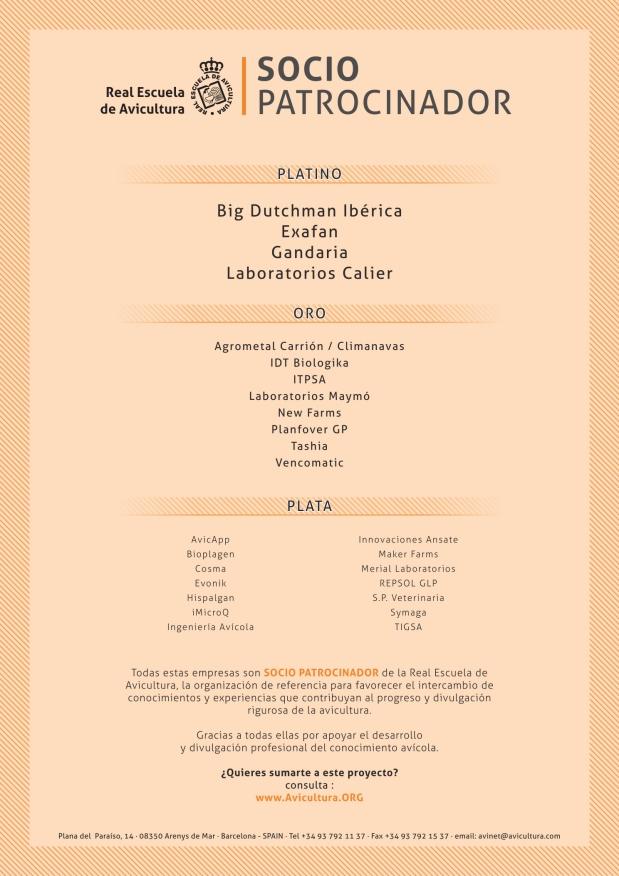 Real Escuela de Avicultura - Patrocinadores