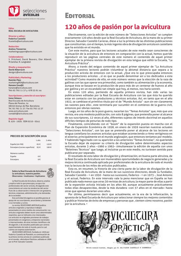 Editorial - 120 años de pasión por la avicultura