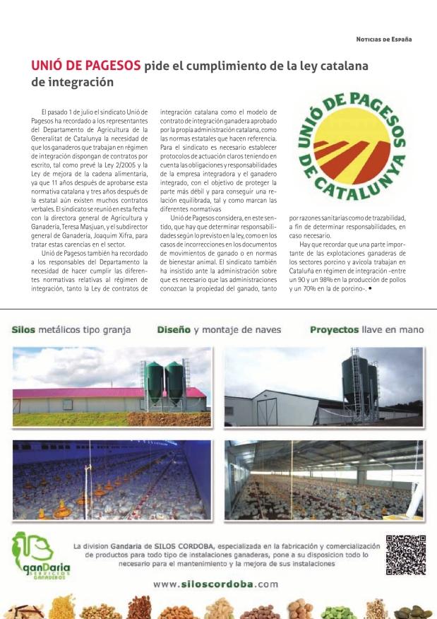 Unió de Pagesos pide el cumplimiento de la ley catalana de integración