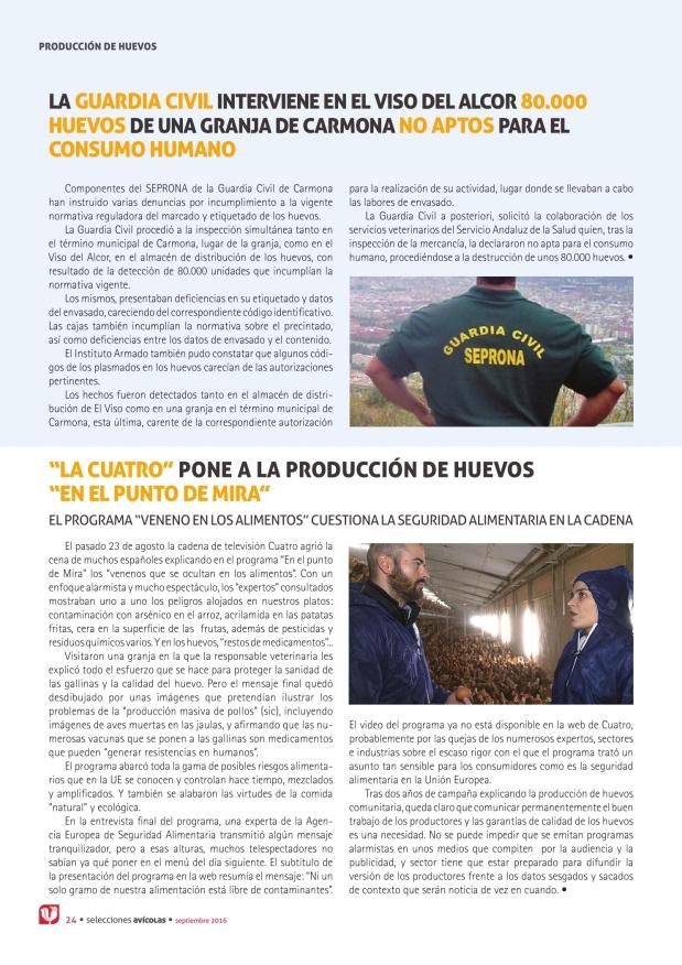 La Guardia Civil interviene en el viso del alcor 80.000 huevos de una granja de Carmona no aptos para el consumo humano