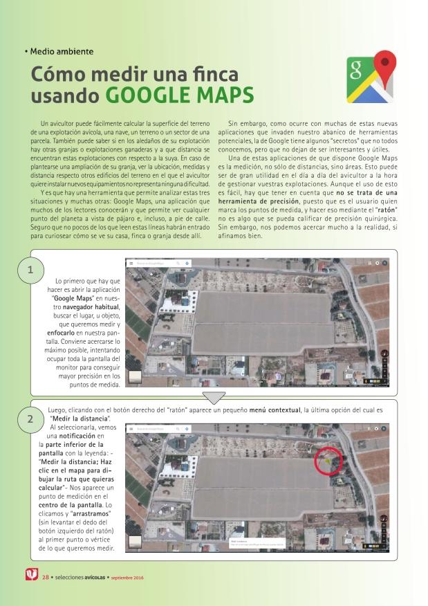 Cómo medir una finca usando Google maps