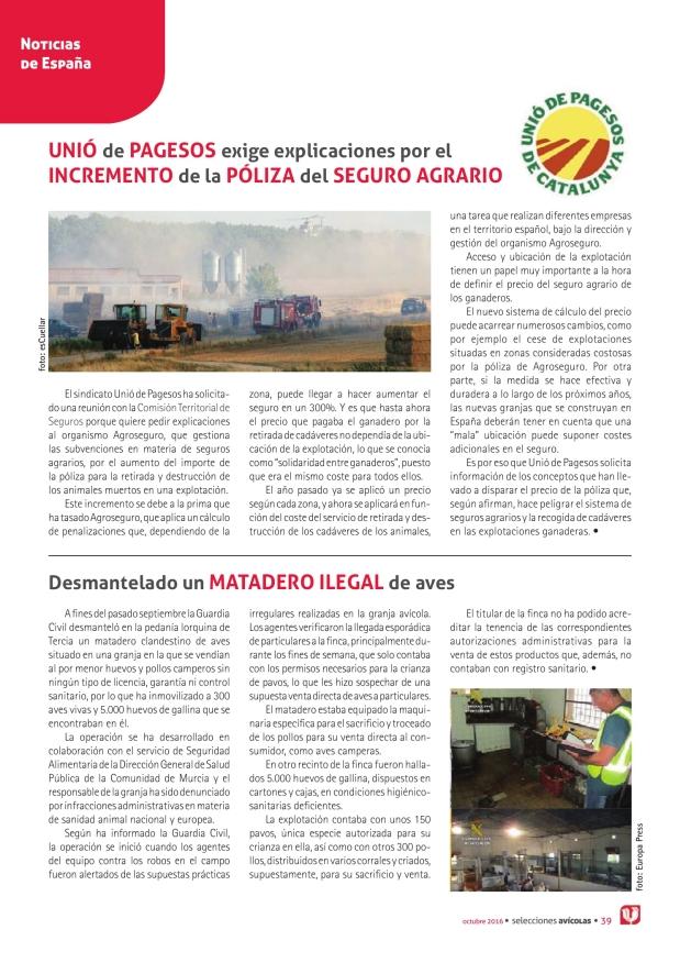 Unió de Pagesos exige explicaciones por el incremento de la póliza del seguro agrario