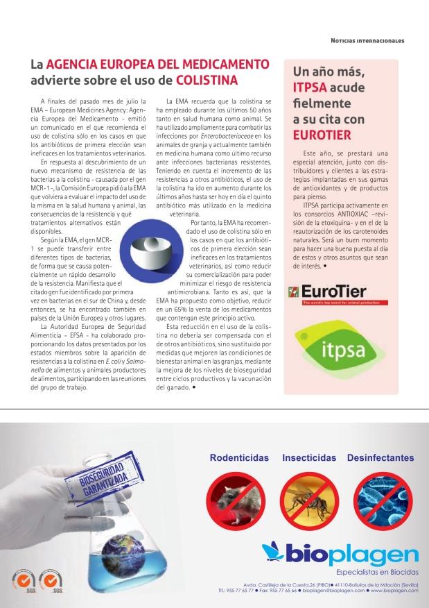 La Agencia Europea del Medicamento advierte sobre el uso de colistina