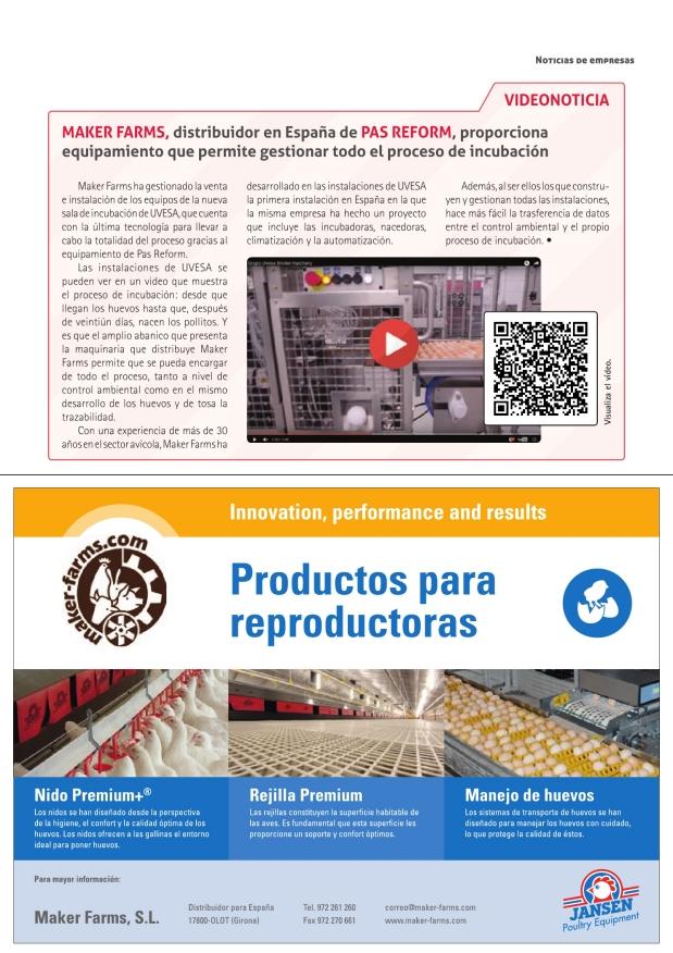 Maker Farms, distribuidor en España de Pas Reform, proporciona equipamiento que permite gestionar todo el proceso de incubación