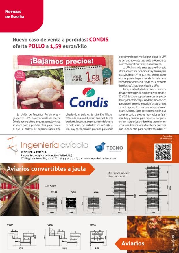Nuevo caso de venta a pérdidas: Condis oferta pollo a 1,59 euros/kilo