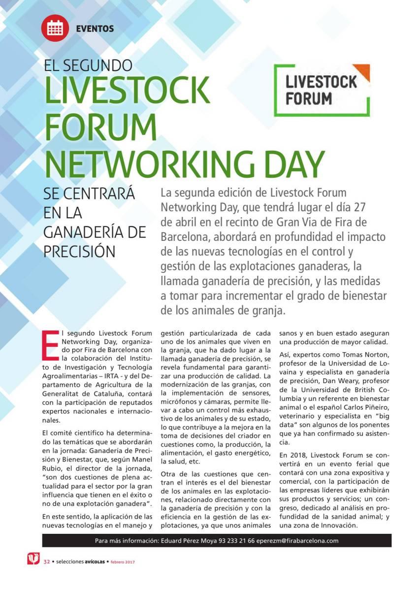 El segundo Livestock Forum Networking Day se centrará en la ganadería de precisión