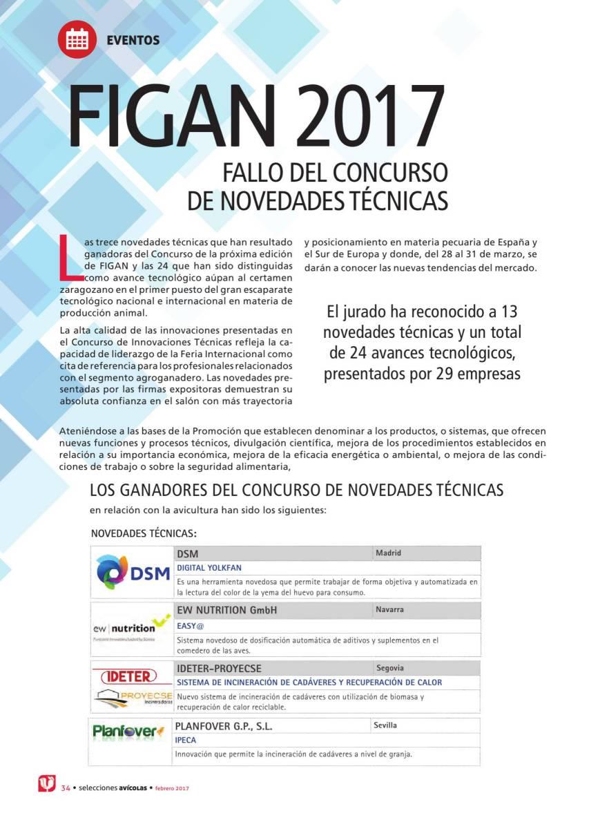 FIGAN 2017 FALLO DEL CONCURSO DE NOVEDADES TÉCNICAS
