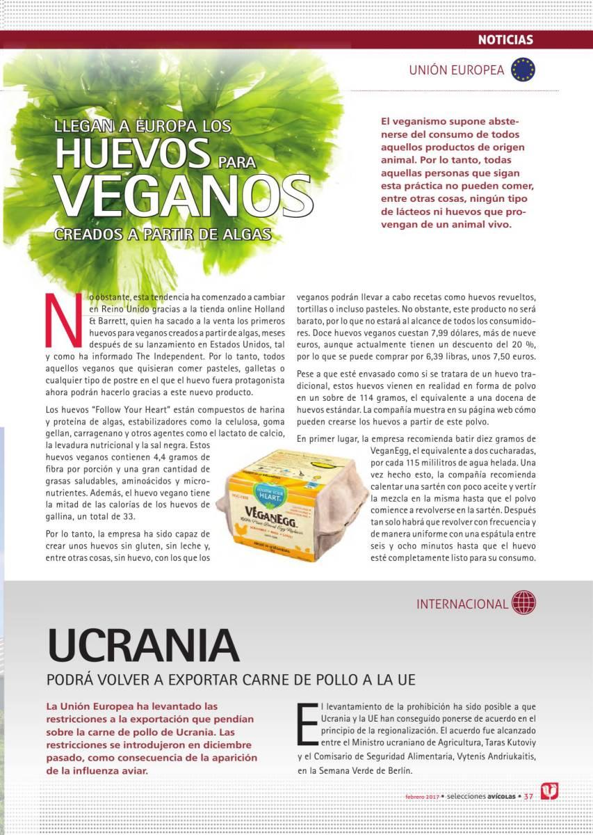 Llegan a Europa los huevos para veganos