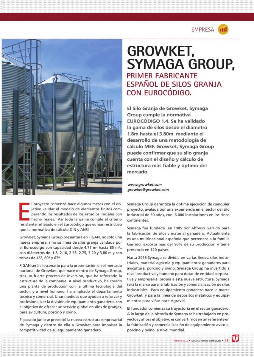 Growket, Symaga Group, primer fabricante español de silos granja con Eurocódigo.