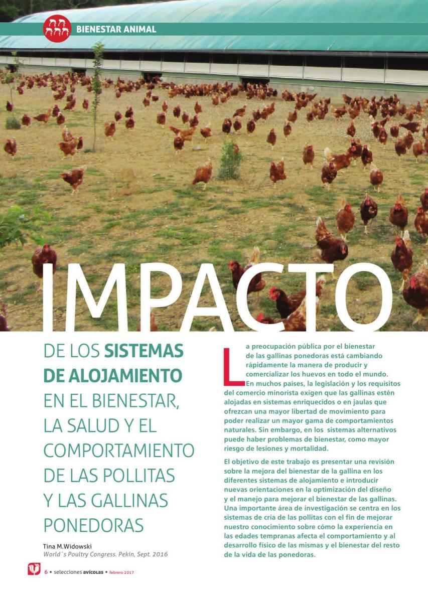 IMPACTO DE LOS SISTEMAS DE ALOJAMIENTO EN EL BIENESTAR, LA SALUD Y EL COMPORTAMIENTO DE LAS POLLITAS Y LAS GALLINAS PONEDORAS