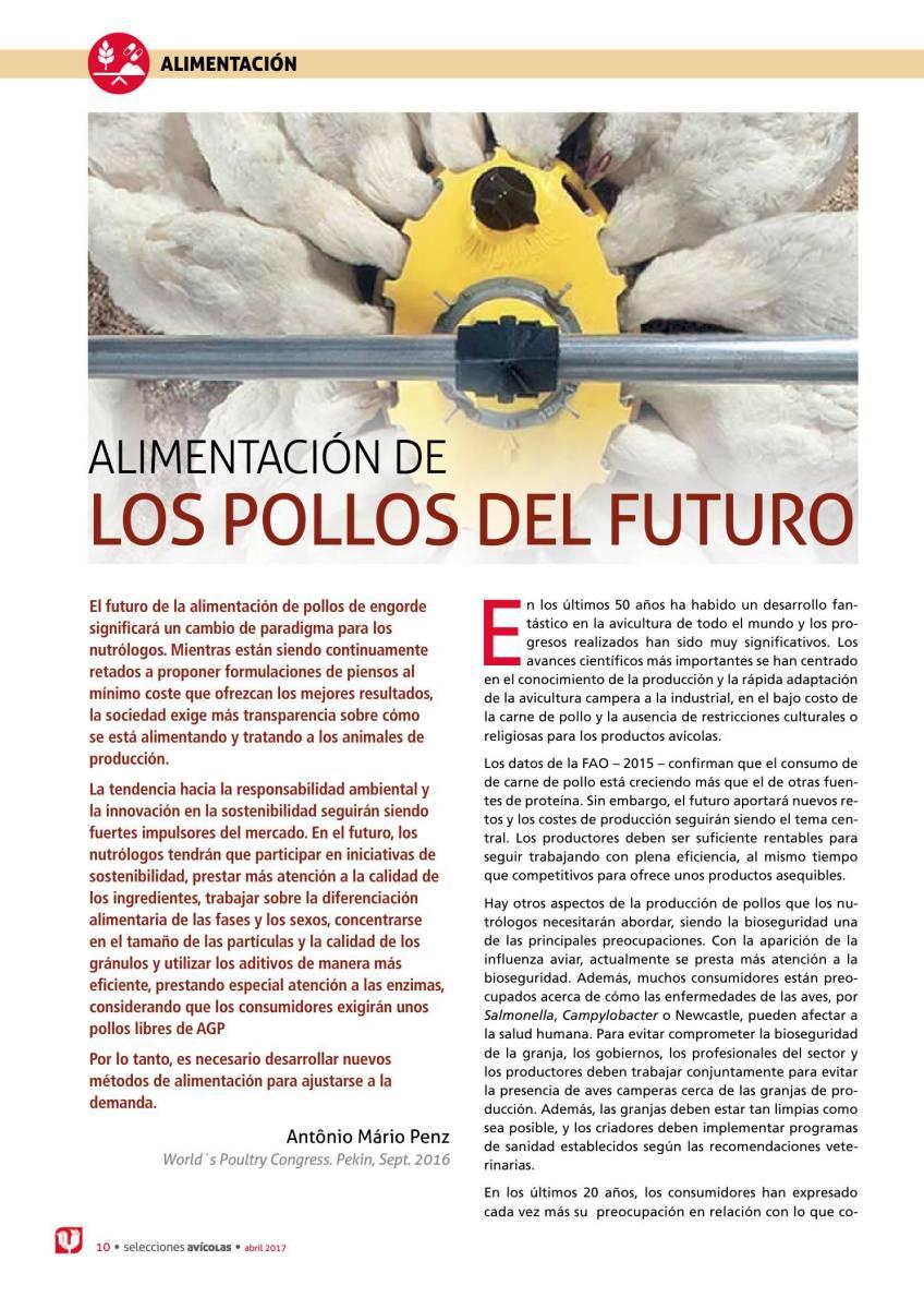ALIMENTACIÓN DE LOS POLLOS DEL FUTURO