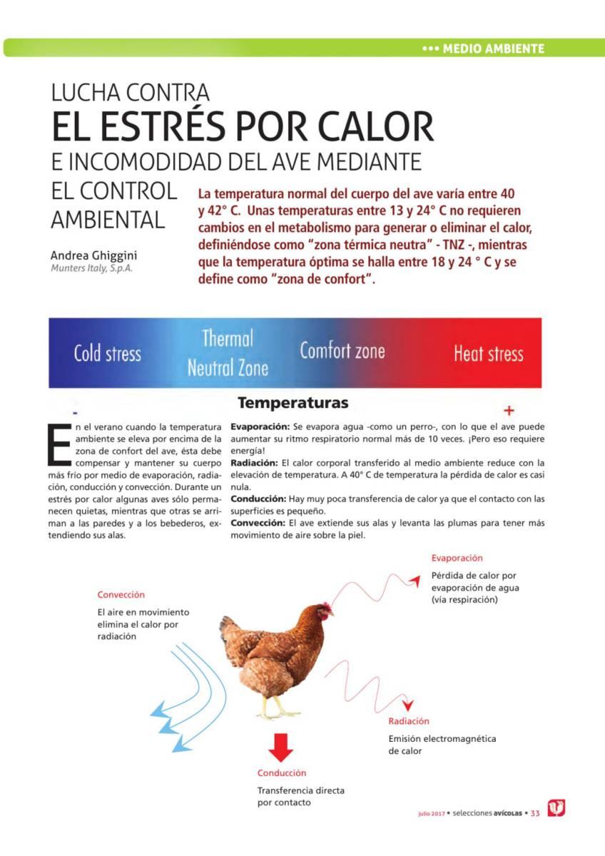 Lucha conta el estrés por calor e incomodidad del ave mediante el control ambiental