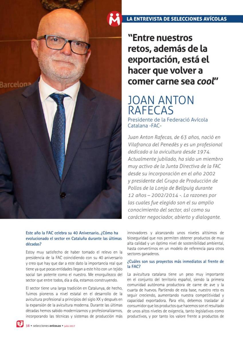 """Hay que hacer que comer carne vuelva a ser -cool-"". Entrevista a Joan Anton Rafecas"