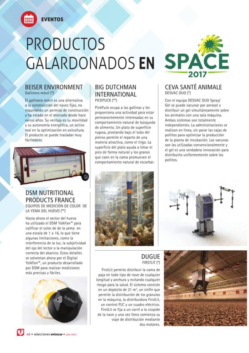 Productos galardonados en SPACE 2017