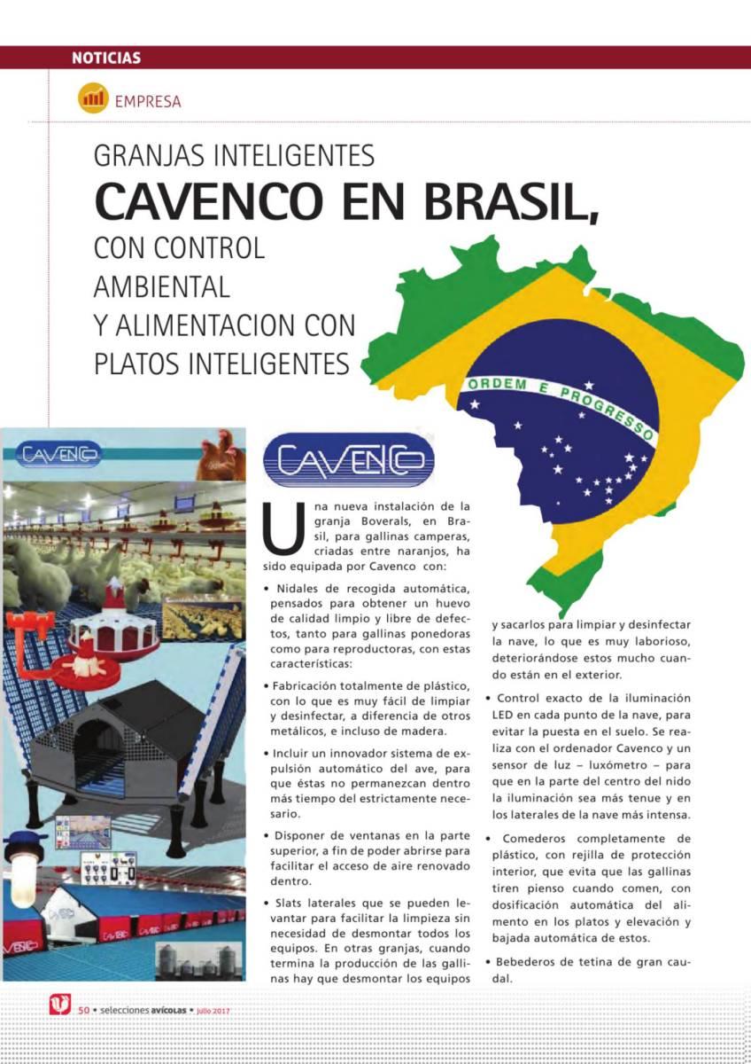 Granjas inteligentes CAVENCO en Brasil