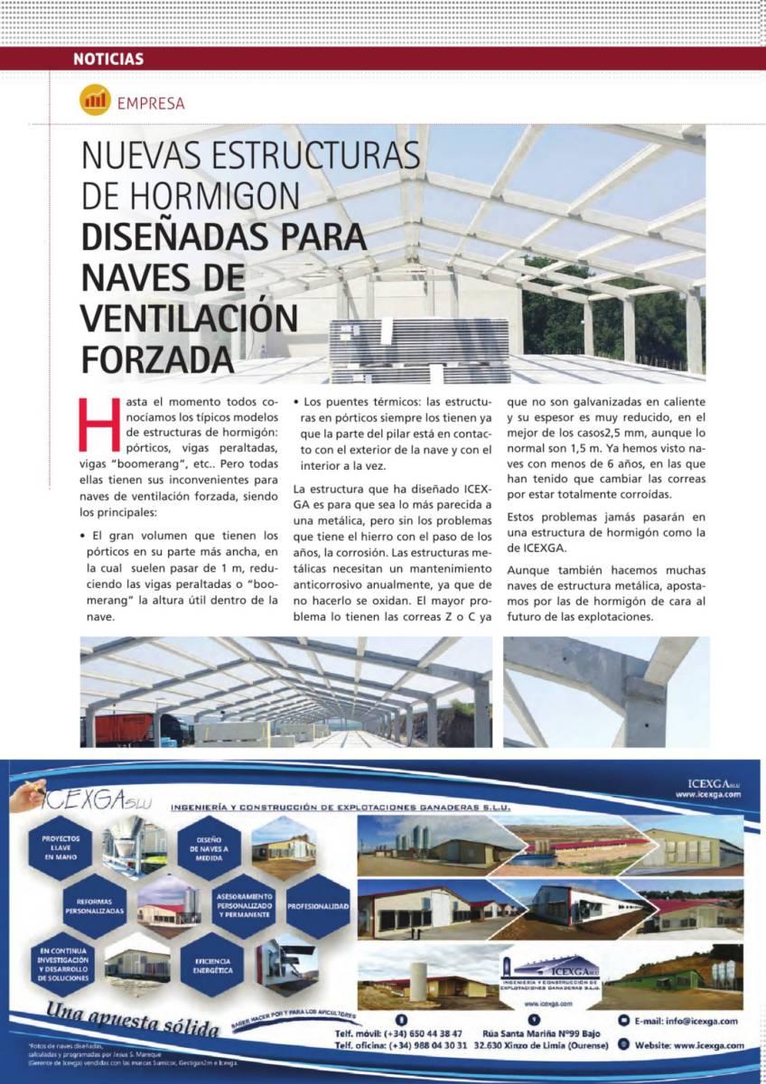 Nuevas estructuras de hormigón diseñadas para naves de ventilación forzada