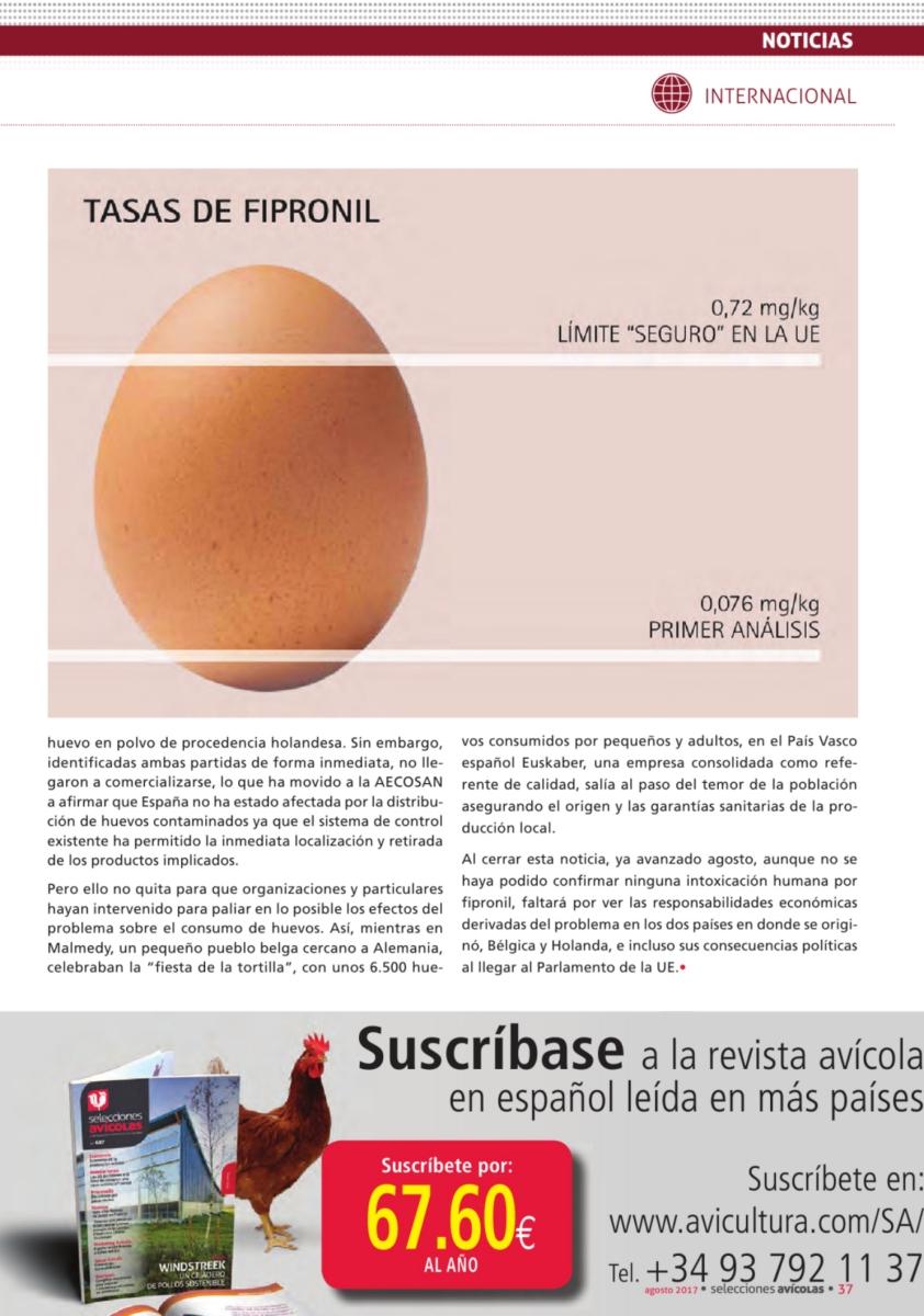 Subscripción a la revista Selecciones Avícolas