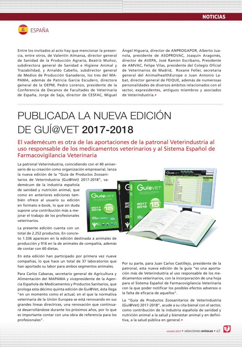 PUBLICADA LA NUEVA EDICIÓN DE GUÍ@VET 2017-2018