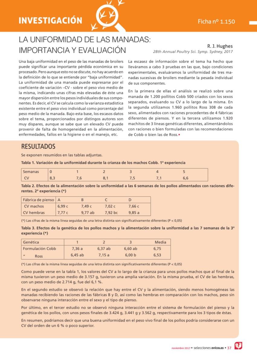 La uniformidad de las manadas importancia y evaluación