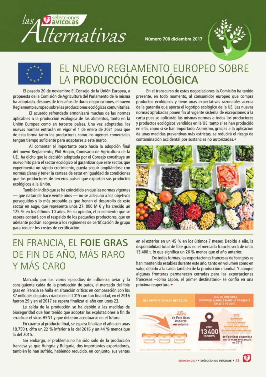 El nuevo reglamento europeo sobre la producción ecológica